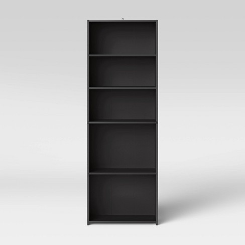 5 Shelf Bookcase Black Room Essentials