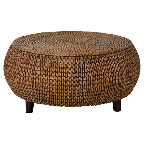 Bali Breeze Low Round Accent Table - Gold Patina - Gallerie Décor - image 1 of 1