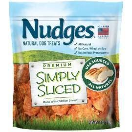 Nudges Simply Sliced Chicken  Breast Dog Treats - 12oz
