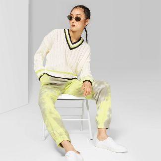 Women's High-Rise Tie Dye Sweatpants - Wild Fable™ Daybreak Green S