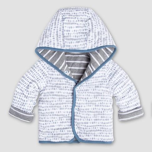 5bc44295a Burt s Bees Baby Boys  Organic Cotton Stripe Reversible Jacket ...