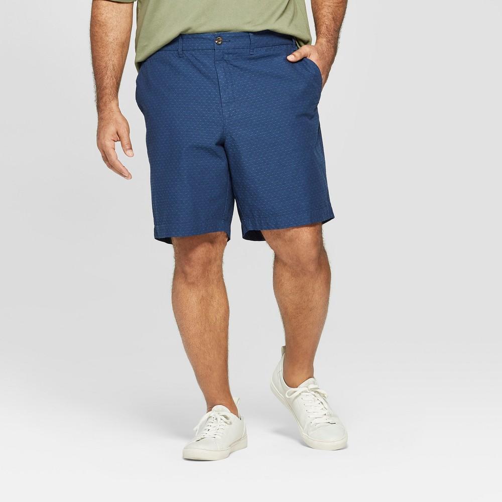 Men's Big & Tall 9 Slim Fit Chino Shorts - Goodfellow & Co Xavier Navy 48, Blue