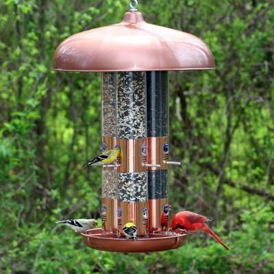 Perky-Pet Copper Triple Tube Wild Bird Feeder