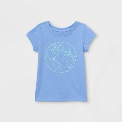 Toddler Girls' World Short Sleeve T-Shirt - Cat & Jack™ Blue