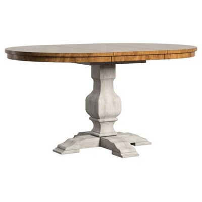 South Hill Oval Extendable Pedestal Base Dining Table - Antique White - Inspire Q