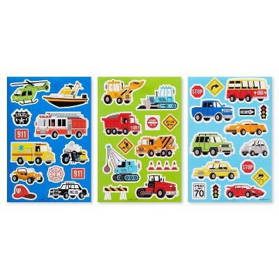 125ct Trucks, Construction, and Cars Stickers