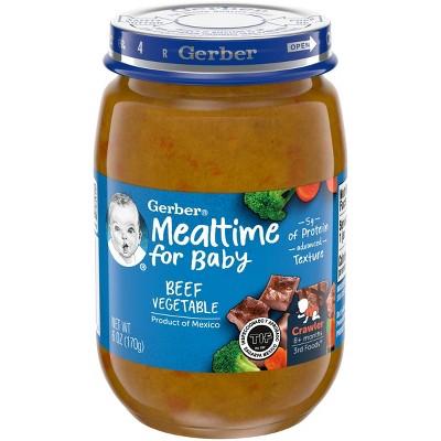 Gerber 3rd Food Glass Beef Vegetable Baby Meals - 6oz