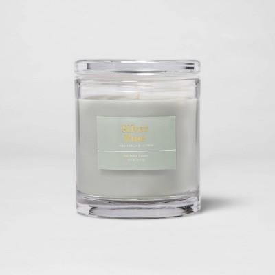 8.5oz Glass Jar Silver Pine Candle - Threshold™