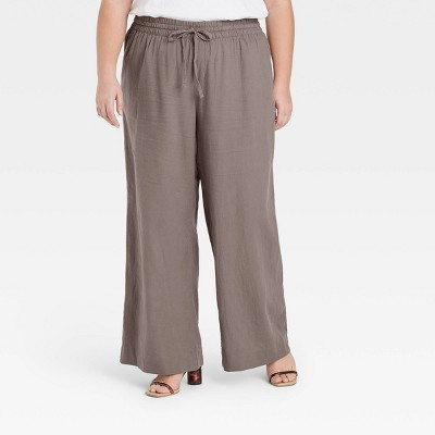 Women's Mid-Rise Wide Leg Pants - A New Day™