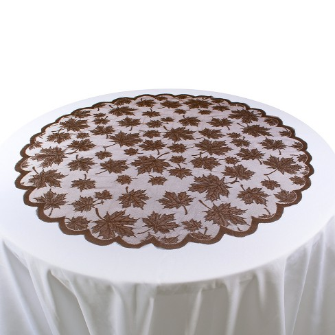 "Brown Table topper (40""x40"") - Design Imports - image 1 of 1"