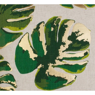 """Dcor Therapy 20""""x20"""" Eden Wallace Leaf Throw Pillow Cream/Green : Target"""