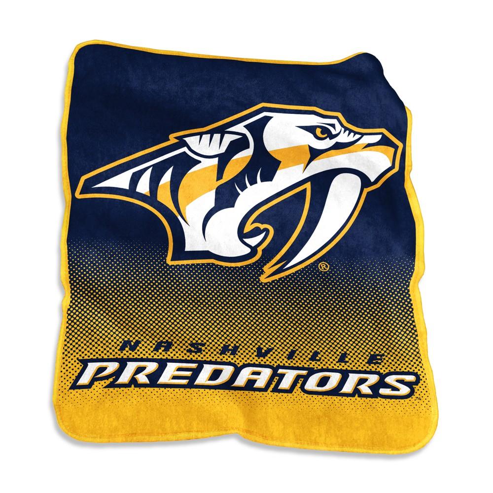 Nashville Predators Raschel Throw Blanket