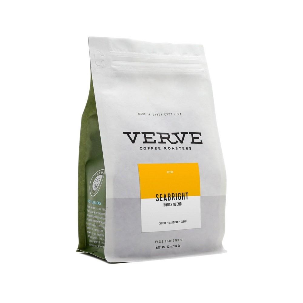 Verve Seabright House Blend Whole Bean Medium Roast Craft Coffee 12oz