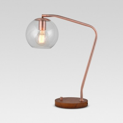 Menlo Glass Globe Desk Lamp Copper Lamp Only - Project 62™