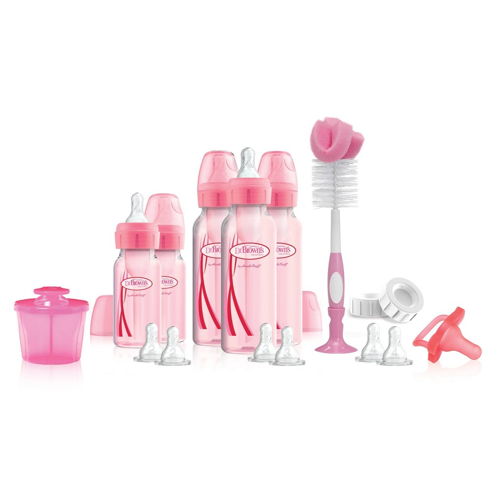 Image of Dr. Brown's Options+ Baby Bottle Gift Set - Pink