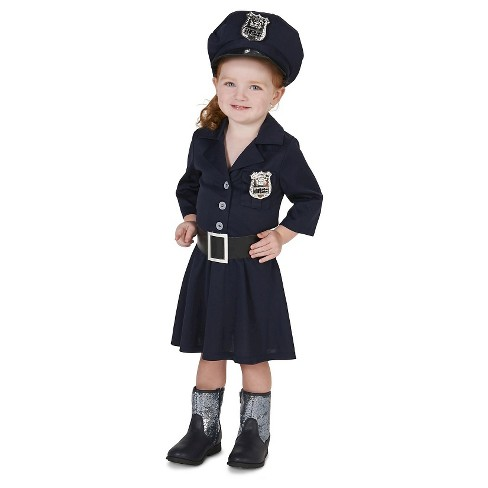 Toddler Girls' Police Officer Costume 2T-4T - image 1 of 5