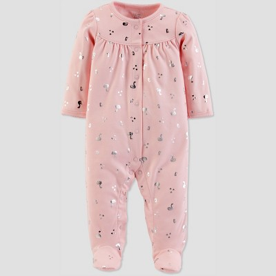 Baby Girls' Foil Sleep 'N Play - Just One You® made by carter's Light Pink 3M