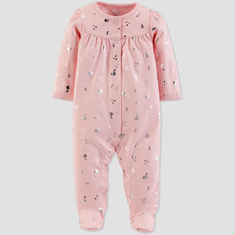 Baby Girls' Foil Sleep 'N Play - Just One You made by carter's Light Pink Newborn