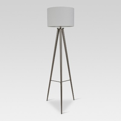 Delavan Metal Tripod Floor Lamp Nickel Lamp Only - Project 62™
