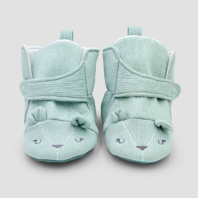 Baby Boys' Constructed Bear Bootie Slippers - Cloud Island™ Blue 3-6M