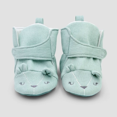 Baby Boys' Constructed Bear Bootie Slippers - Cloud Island™ - image 1 of 3
