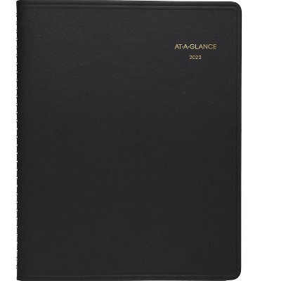 """AT-A-GLANCE 2022 7"""" x 8.75"""" Appointment Book Black 70-951-05-22"""