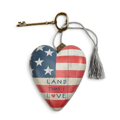 DEMDACO Land That I Love Art Heart 4 inch - Red
