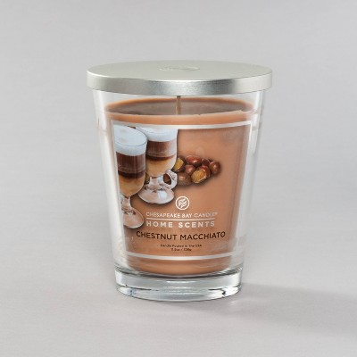 11.5oz Glass Jar Candle Chestnut Macchiato - Home Scents By Chesapeake Bay Candle