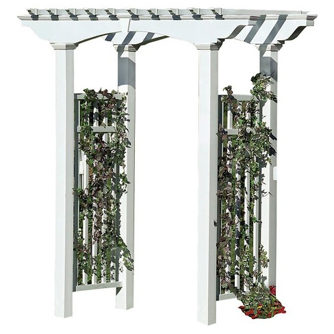 Newport Arbor Garden Decorative Structures - White - New England Arbors - image 1 of 2