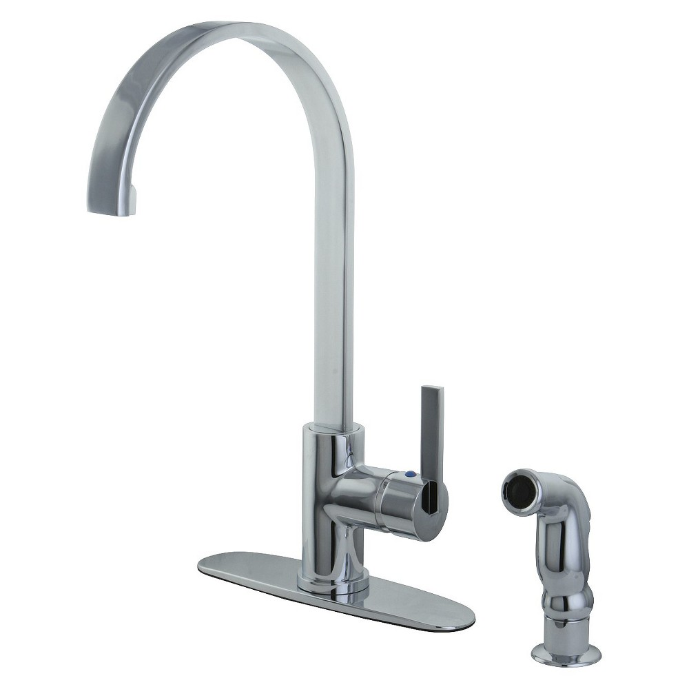 Image of Modern Single Lever Kitchen Faucet Chrome - Kingston Brass