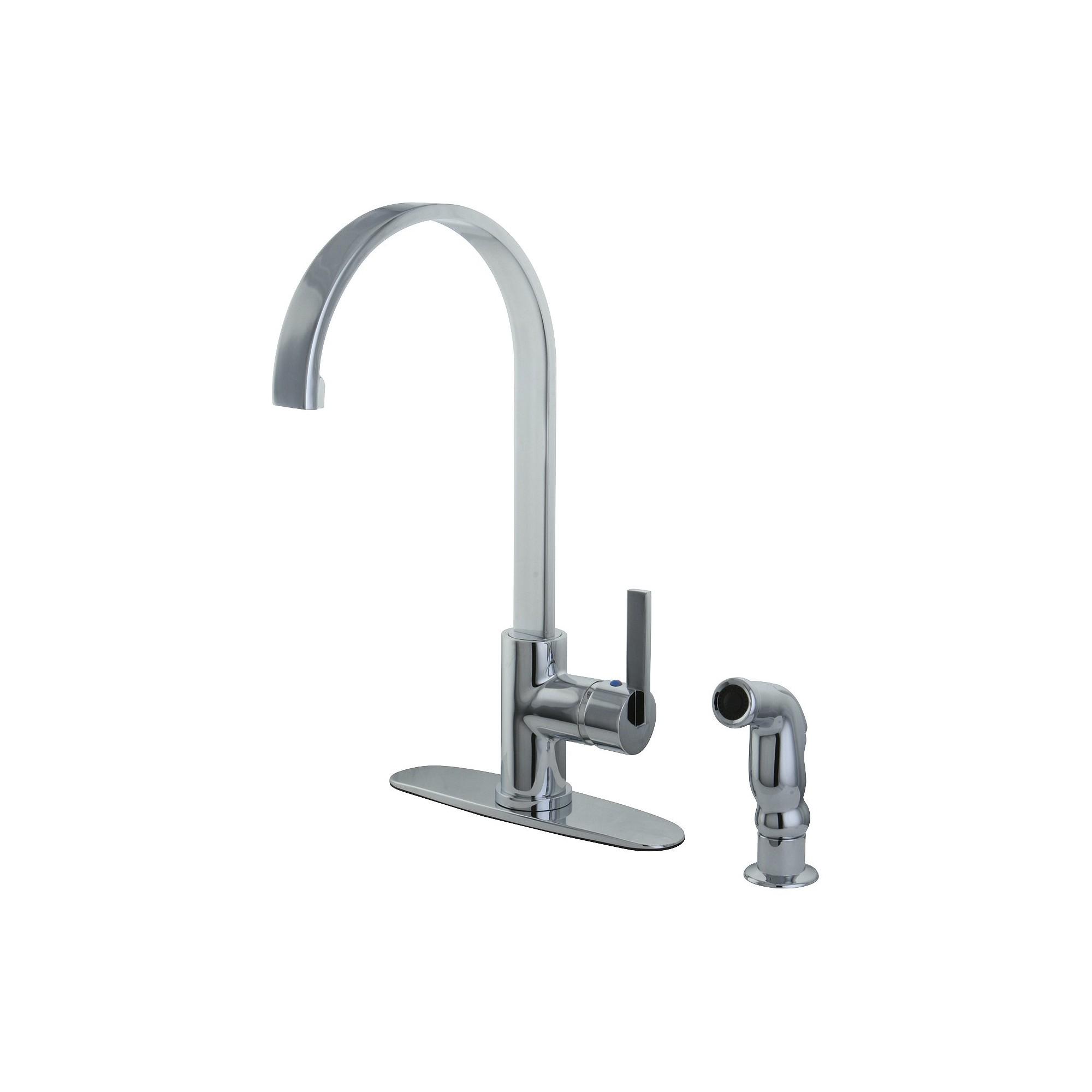 Modern Single Lever Kitchen Faucet Chrome - Kingston Brass, Chorme