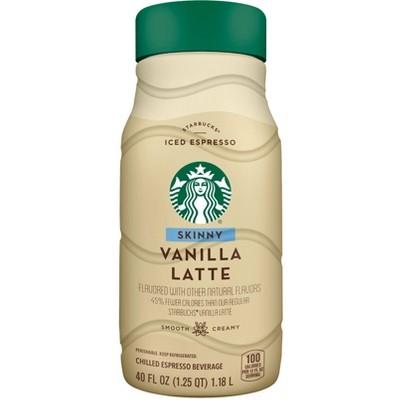 Starbucks Skinny Vanilla Latte Iced Espresso Classics - 40 fl oz