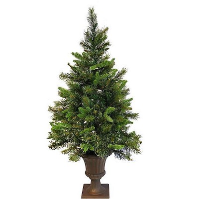 Vickerman 3.5' Prelit Artificial Christmas Tree Mixed Pine Cashmere Potted - Clear Lights