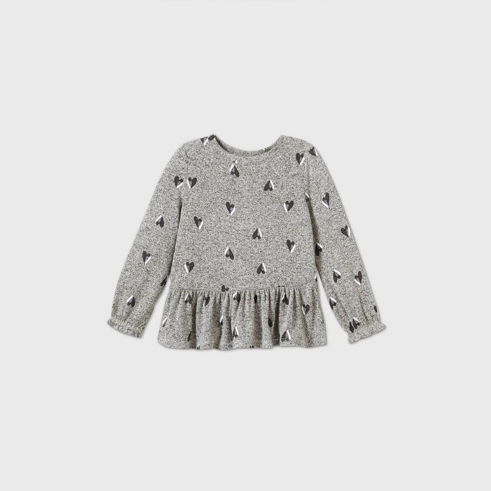 Promos Toddler Girls' Cozy Heart Long Sleeve T-Shirt - Cat & Jack™