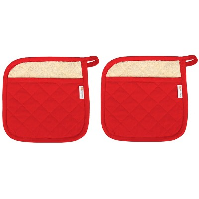 Set Of 2 Pot Holder Red - Mu Kitchen