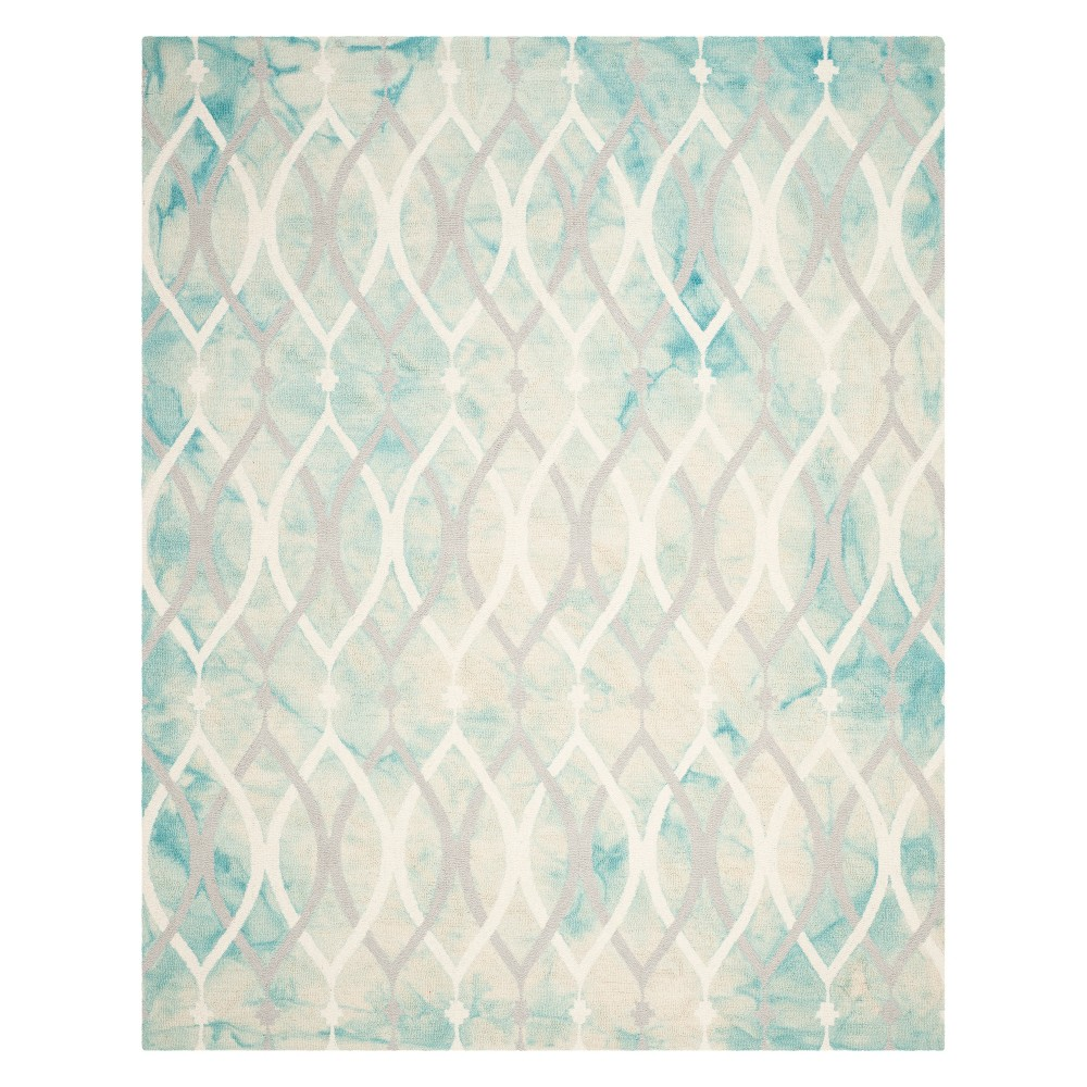 Shapes Area Rug Green/Ivory