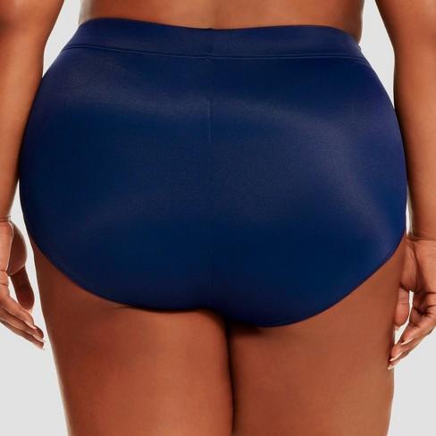 d74210ec22 Women s Slimming Control High Waist Bikini Bottom - Dreamsuit by Miracle  Brands Navy