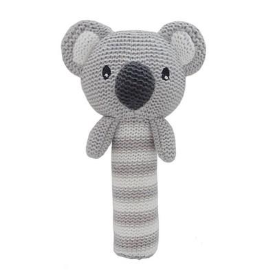 Living Textiles Baby Huggable Knit Rattle - Kirby Koala