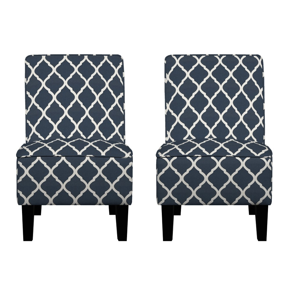 Image of Branson Chair Set - Navy Blue - Handy Living