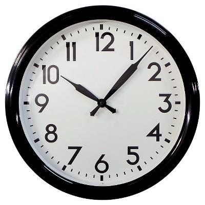 Schoolhouse 20  Wall Clock Black - Threshold™