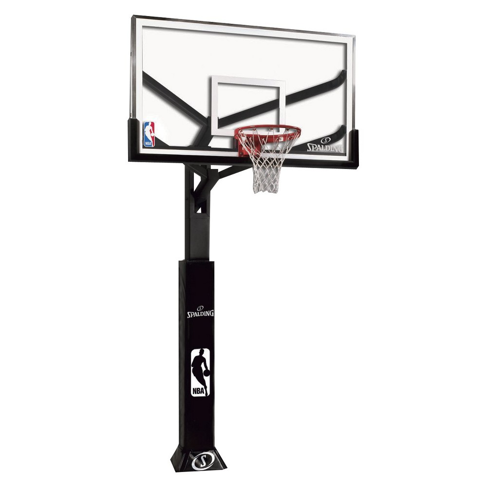 Spalding NBA 72 Glass Arena View Series In-Ground Hoop System