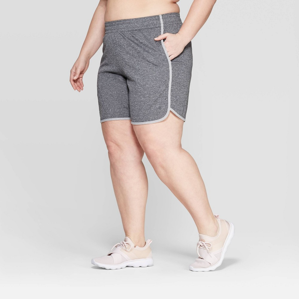 Women's Plus Size Everyday Sport Mid-Rise Shorts 5 - C9 Champion Black Heather 3X