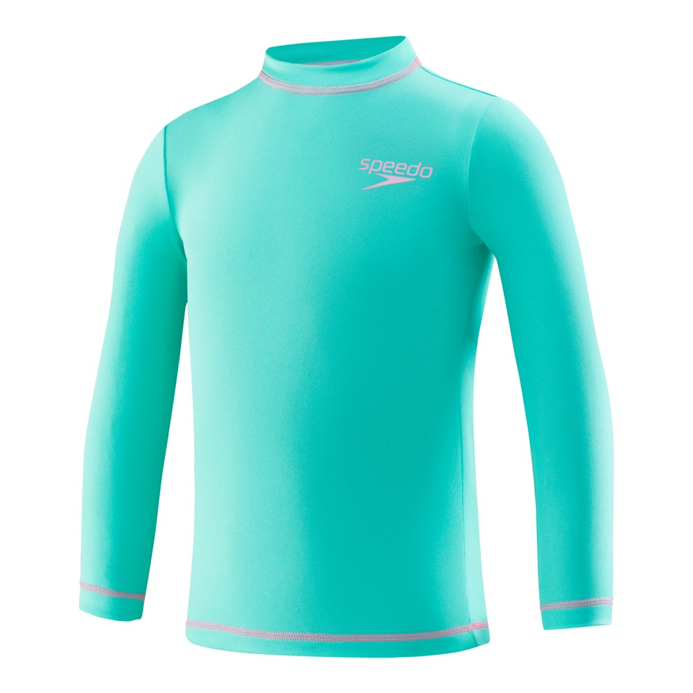 Speedo Kids Long Sleeve UV Sunshirt - Seafoam M