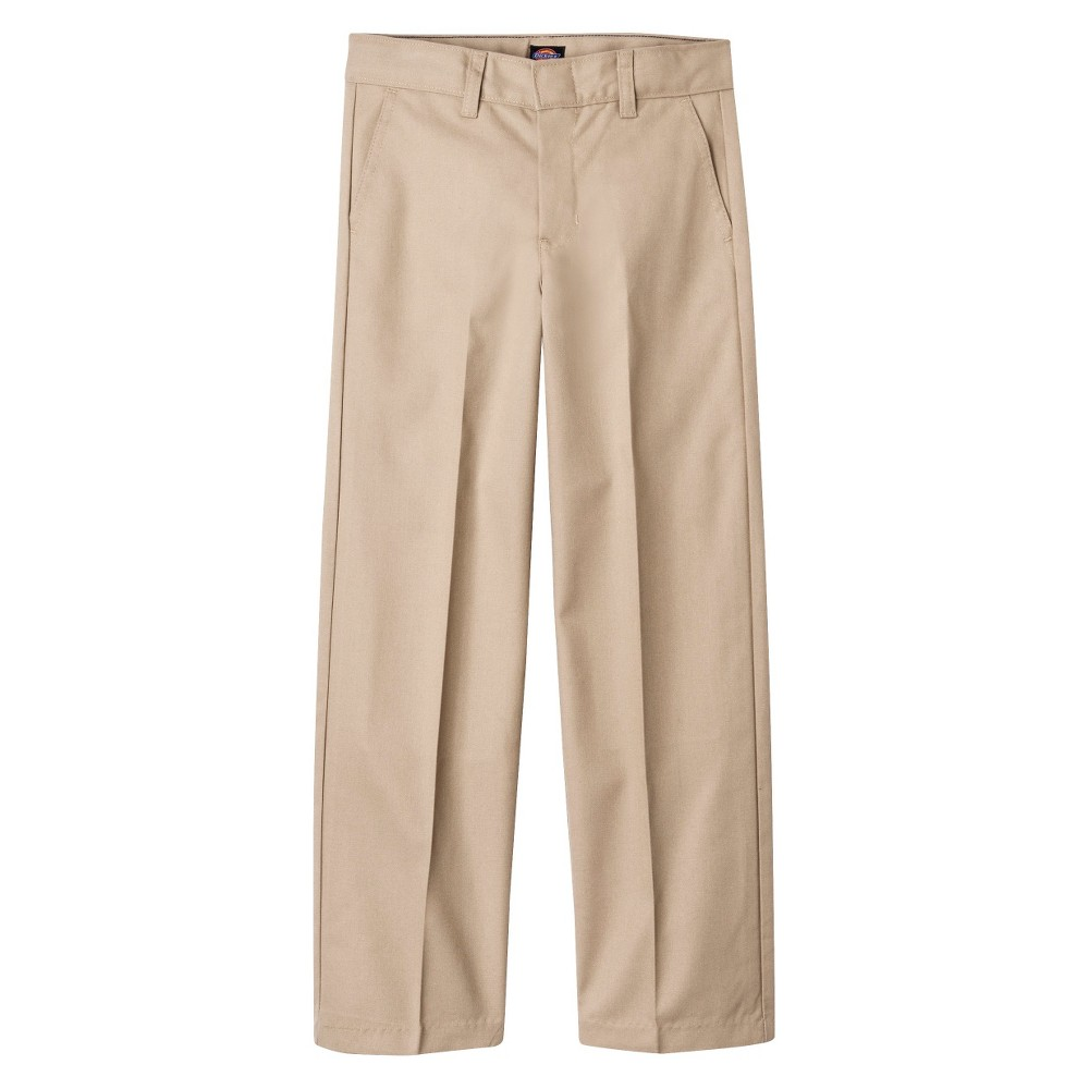 Dickies Boys' Flat Front Uniform Chino Pants - Khaki (Gre...