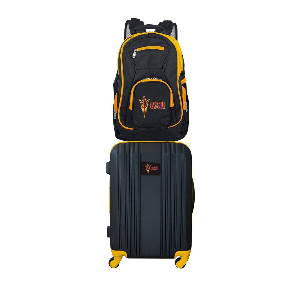 NCAA Arizona State Sun Devils Premium 2pc Backpack & Carry-On Luggage Set