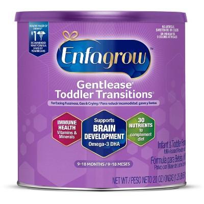 Enfagrow Gentlease Toddler Transitions Infant Formula with Iron Milk-Based Powder - 20oz