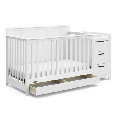 Graco Hadley 4-in-1 Convertible Crib and Changer with Drawer - White
