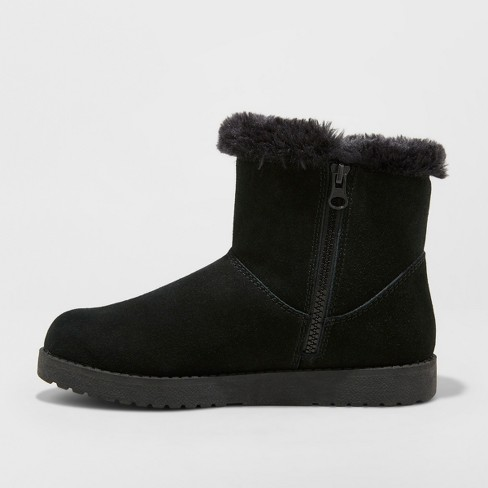 259e56112170d Women's Bellina Suede Short Winter Boots - Universal Thread™ Black 9 ...
