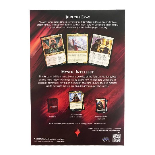 Magic: The Gathering Commander Mystic Intellect Deck, Kids Unisex image number null