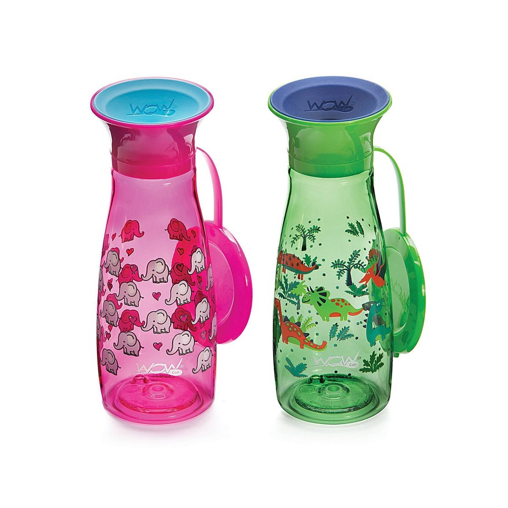 Image of WOW Cup Mini - Pink/Green 2pk/10oz